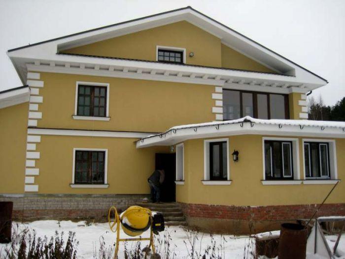 Качественные фасадные... проект Утепление кирпичного дома/коттеджа мокрым фасадом фотография Квалификация рабочих...